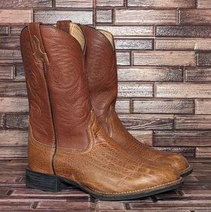 Redhead Leather Western Cowboy Boots - Men's 9